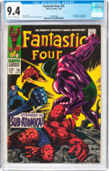 Silver Age (1956-1969):Superhero, Fantastic Four #76 (Marvel, 1968) CGC NM 9.4 Off-white to white pages....
