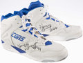 Basketball Collectibles:Others, 1990's Harvey Grant Game Worn, Signed Shoes....