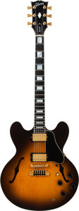 Musical Instruments:Electric Guitars, 1990 Gibson ES-347 Sunburst Semi-Hollow Body Electric Guitar,Serial # 92000324, Weight: 9.2 lbs....