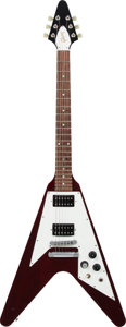 Musical Instruments:Electric Guitars, 1995 Gibson '67 Re-Issue Flying V Cherry Solid Body ElectricGuitar, Serial # 93035700, Weight: 7.2 lbs....