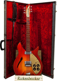 1959 Rickenbacker 330 Capri Fireglo Semi-Hollow Body Electric Guitar, Serial # 2T414, Weight: 7.2 lbs