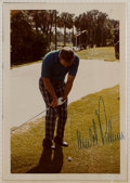 Golf Collectibles:Autographs, Jack Nicklaus, Arnold Palmer, Etc. Signed Photographs (3)....