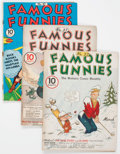 Golden Age (1938-1955):Miscellaneous, Famous Funnies Group of 4 (Eastern Color, 1937-41) Condition: Average VG.... (Total: 4 Comic Books)