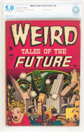 Golden Age (1938-1955):Horror, Weird Tales of the Future #2 (Aragon, 1952) CBCS VG/FN 5.0Off-white pages....