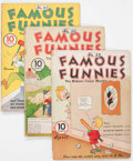 Golden Age (1938-1955):Miscellaneous, Famous Funnies #33, 35, and 42 Group (Eastern Color, 1937-38) Condition: Average GD/VG.... (Total: 3 Comic Books)