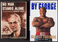 Boxing Collectibles:Autographs, Boxing Greats Signed Hardcover Books Lot of 2....