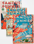 Golden Age (1938-1955):Miscellaneous, Famous Funnies #81, 89, and 90 Group (Eastern Color, 1941-42) Condition: Average FN-.... (Total: 3 Comic Books)