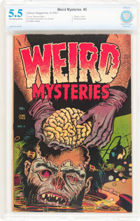 Weird Mysteries #5 (Gillmor, 1953) CBCS FN- 5.5 Off-white to white pages