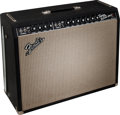 Musical Instruments:Amplifiers, PA, & Effects, 1967 Fender Twin Reverb Black Guitar Amplifier, Serial # A09357....