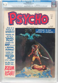 Magazines:Horror, Psycho #12 Double Cover (Skywald, 1973) CGC NM- 9.2 Off-white to white pages....
