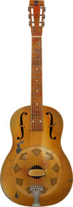 Musical Instruments:Resonator Guitars, 1929 National Triolian Polychrome Resonator Guitar, Serial # 0189....