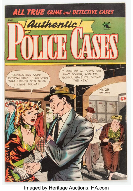 Authentic Police Cases #29 (St. John, 1953) Condition: FN+....