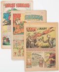Golden Age (1938-1955):Miscellaneous, Golden to Silver Age Coverless Comics Group of 23 (Various Publishers, 1941-61) Condition: Coverless.... (Total: 23 Comic Books)