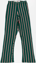 Basketball Collectibles:Uniforms, Mid 1970's Bob Dandridge Game Worn Milwaukee Bucks Rare PinstripedWarmup Pants....