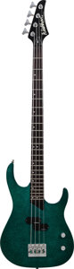 Musical Instruments:Bass Guitars, 1992 Washburn MB2 Green Electric Bass Guitar, Serial # 9203313, Weight: 9.5 lbs....