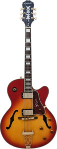 Musical Instruments:Electric Guitars, 2000's Epiphone Joe Pass Sunburst Archtop Electric Guitar, Serial#102111393....