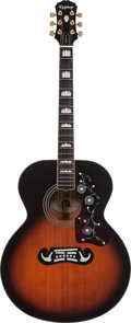 Musical Instruments:Acoustic Guitars, 1994 Epiphone EJ200/VS Sunburst Acoustic Guitar, Serial # S9411080....