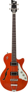Musical Instruments:Bass Guitars, 2007 Dusenberg Star Bass Orange Electric Bass Guitar, Serial # 075649, Weight: 9 lbs....