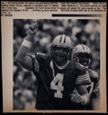 Football Collectibles:Photos, 1997 Brett Favre Highly Definitive Original Press Photograph -Published in Chicago Tribune....