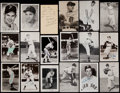 Baseball Collectibles:Others, Baseball Greats Signed Postcards, Etc. Lot of 31....