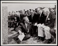 Football Collectibles:Photos, 1963 Pro Football Hall of Fame Inaugural Induction Class Original Press Photograph - With Lambeau!...