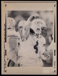 Football Collectibles:Photos, 1992 Brett Favre Original Wire Photograph from 1st Year in Green Bay - Published in Chicago Tribune....