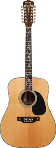 Musical Instruments:Acoustic Guitars, Circa 1980 Takamine Natural 12 String Acoustic Guitar, Serial #F456S....