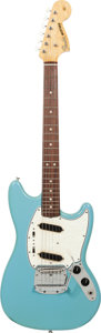 Musical Instruments:Electric Guitars, 1966 Fender Mustang Daphne Blue Solid Body Electric Guitar, Serial# 111532, Weight: 7.6....