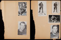 Hockey Collectibles:Photos, Hockey Greats Signed Small Photographs and Postcards Lot of 7, 1unsigned....