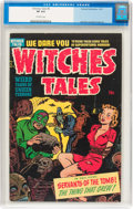 Golden Age (1938-1955):Horror, Witches Tales #6 (Harvey, 1951) CGC VF 8.0 Off-white pages....