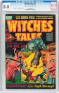 Golden Age (1938-1955):Horror, Witches Tales #13 (Harvey, 1952) CGC VF 8.0 Light tan to off-whitepages....