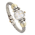 Estate Jewelry:Watches, David Yurman Lady's Gold, Sterling Silver Watch. ...