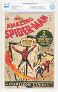 Silver Age (1956-1969):Superhero, The Amazing Spider-Man #1 (Marvel, 1963) CBCS GD+ 2.5 Off-white towhite pages....