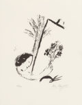 Fine Art - Work on Paper:Print, Marc Chagall (French/Russian, 1887-1985). Bouquet a la main,1957. Lithograph. 14-1/2 x 11-1/2 inches (36.8 x 29.2 cm) (...