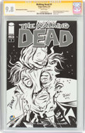 Modern Age (1980-Present):Horror, Walking Dead #1 Wizard World Raleigh Sketch Edition - SignatureSeries (Image, 2015) CGC NM/MT 9.8 White pages....