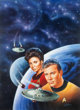 "Keith Birdsong Star Trek #59 ""The Disinherited"" Paperback Novel Cover Painting Original Art (Pocket Books, 199..."