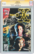 Modern Age (1980-Present):Science Fiction, The X-Files #5 Signature Series (Topps Comics, 1995) CGC NM 9.4White pages....