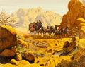 Memorabilia:Comic-Related, Mort Kunstler - Stagecoach Signed Limited Edition Lithograph Print#267/300 (undated)....