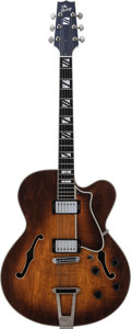 Musical Instruments:Electric Guitars, 1990 Heritage Sunburst Archtop Electric Guitar, Serial # J09301, Weight: 8.5 lbs....