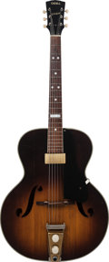 Musical Instruments:Electric Guitars, 1950's Vega O'Dell Sunburst Archtop Electric Guitar, Serial # 8906,Weight: 6.5....