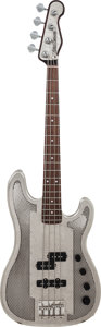 Musical Instruments:Bass Guitars, 2005 Trussart Steelcaster Antique Silver Electric Bass Guitar, Serial # 05 025, Weight: 9.4 lbs....