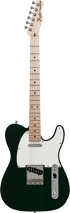 Musical Instruments:Electric Guitars, 2011 Fender Custom Shop Telecaster Pro Green Solid Body Electric Guitar, Serial # R60432, Weight: 7.8 lbs....