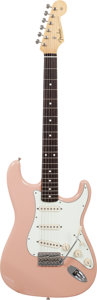 Musical Instruments:Electric Guitars, 2014 Fender Stratocaster Shell Pink Solid Body Electric Guitar,Serial # JD14010975, Weight: 8.2 lbs....