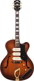 Musical Instruments:Electric Guitars, 1954 Guild Stratford X-350 Sunburst Semi-Hollow Body ElectricGuitar, Serial # 1598, Weight: 8.5 lbs. ...