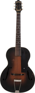 Musical Instruments:Acoustic Guitars, 1933 Epiphone Masterbilt Blackstone Sunburst Archtop Acoustic Guitar, Serial # 6231....