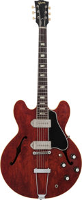 Musical Instruments:Electric Guitars, 1963 Gibson ES-330 Cherry-Hollow Body Electric Guitar, Serial #103864, Weight: 6 lbs....