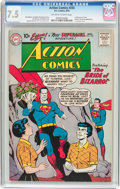 Silver Age (1956-1969):Superhero, Action Comics #255 (DC, 1959) CGC VF- 7.5 Off-white to whitepages....