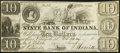 Obsoletes By State:Indiana, New Albany, IN- State Bank of Indiana Branch $10 Jan. 31, 1837...