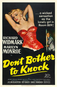 """Don't Bother to Knock (20th Century Fox, 1952). One Sheet (27"""" X 41"""")"""