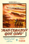 "Movie Posters:Western, The Searchers (Warner Brothers, 1956). Argentinean Poster (29"" X44"").. ..."